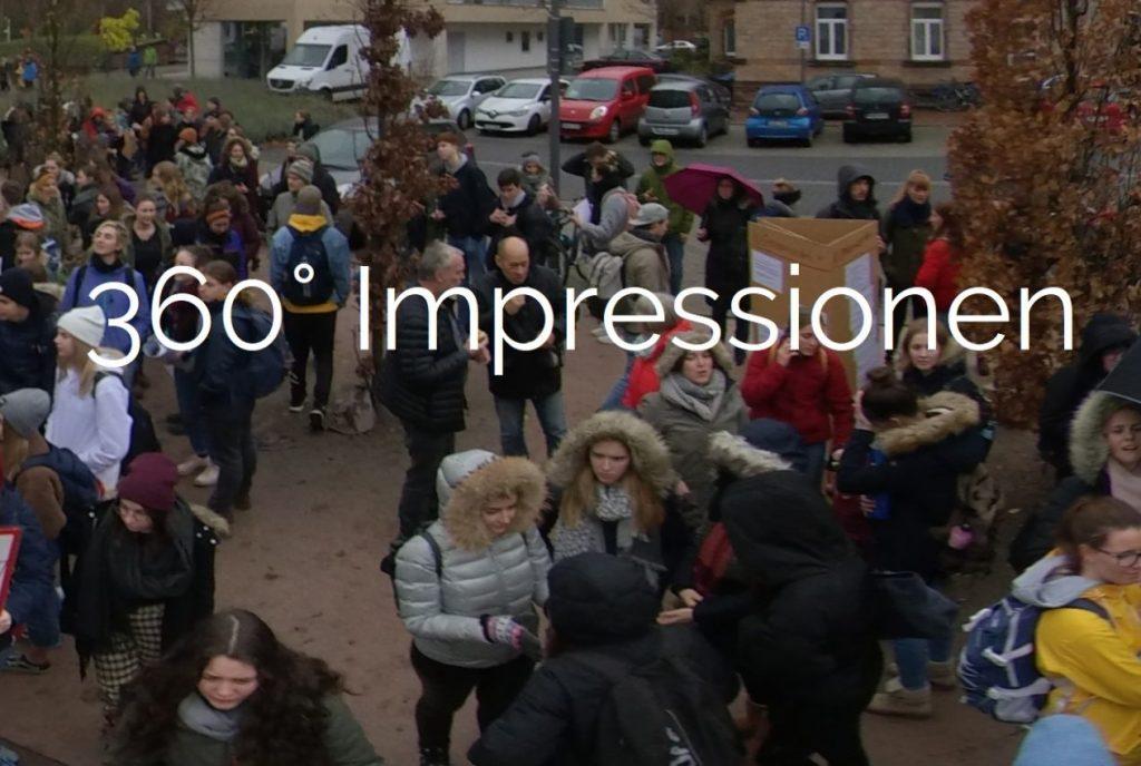 Klimastreik 360° Impressionen
