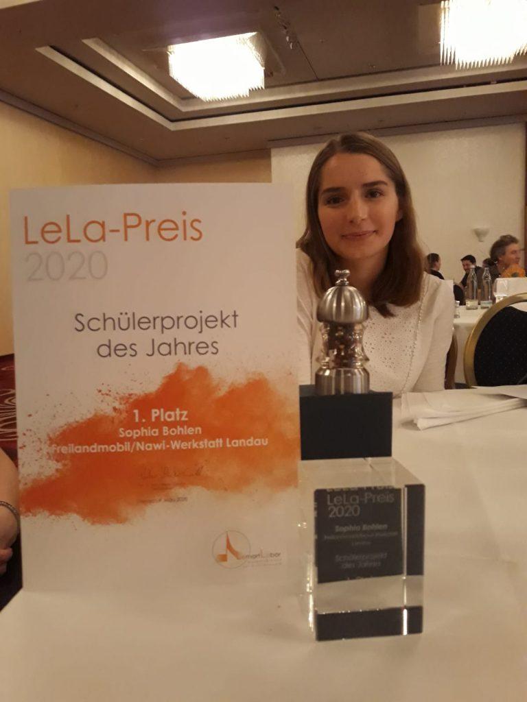 Platz 1 für unsere Schülerpraktikantin beim LeLa Preis 2020