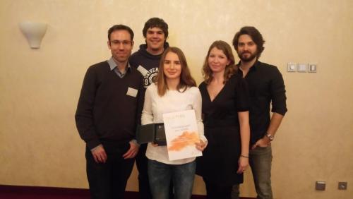 Das Team bei der Preisverleihung